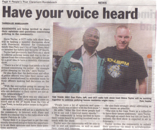 People's Post 15 January 2013 - Have your voice heard
