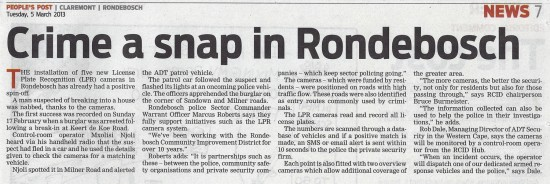 People's Post - 5th Mar, 2013, Crime a snap in Rondebosch