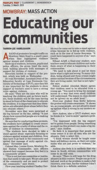 People's Post, Tuesday 5th Mar, 2013 - Educating our communities, Page 3
