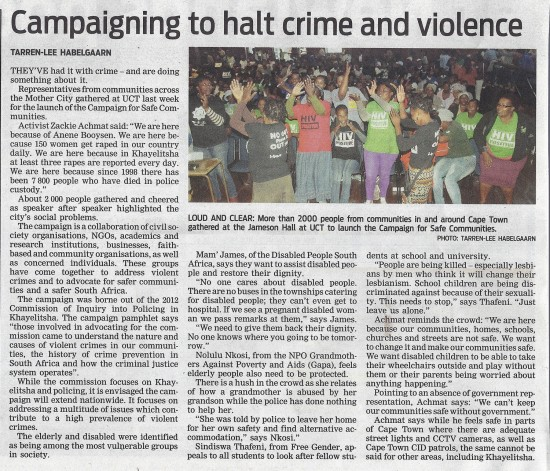 People's Post 2 April 2013 Campaigning to halt crime and violence Page 2