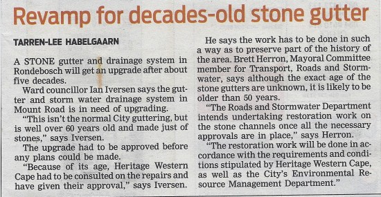 People's Post 9 April 2013 Revamp for decades-old stone gutter Page 5