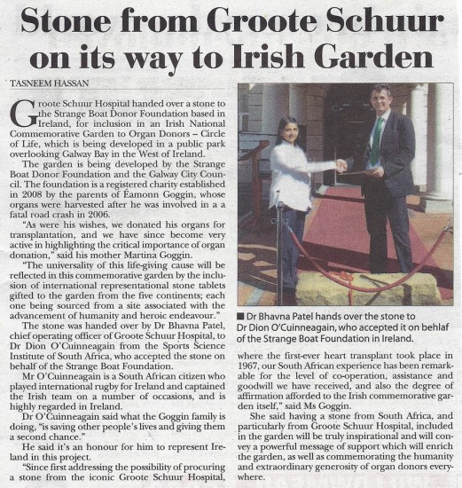 2013-05-02 Tatler, Stone from Groote Schuur on its way to Irish Garden, Page 6