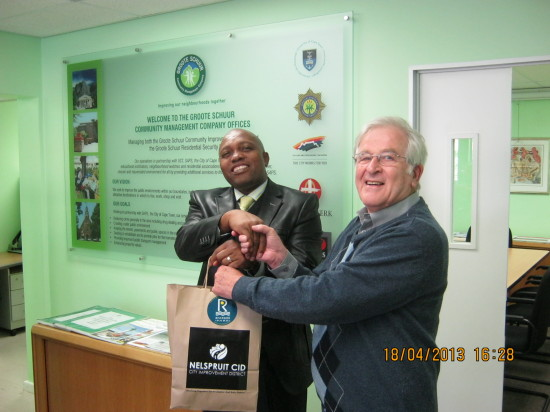 Councillor Bheki Zulu, Member of  the Mayoral Committee (MMC) LED, Tourism and Trade with Anthony Davies CEO of the GSCID