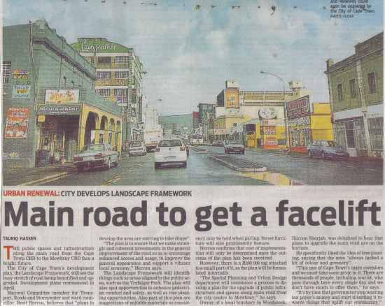 Main Road to get a facelift (People's Post, 7 May 2013)