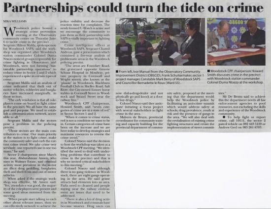 2013-06-13 Tatler, Partnerships could turn the tide on crime, p.5