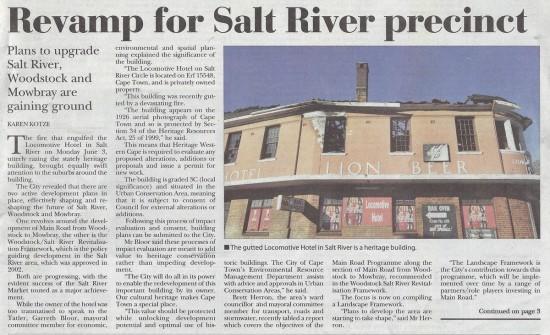 Revamp for Salt River precinct (Tatler, 20 June 2013)