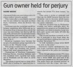 Gun owner held for perjury (People's Post, 16 July 2013)