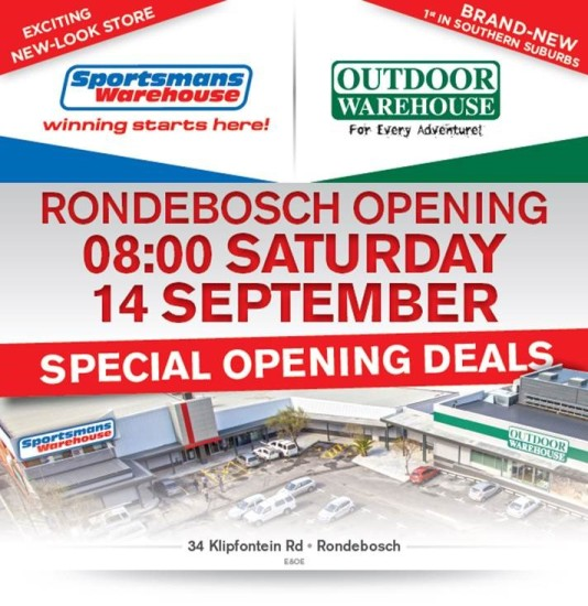 Outdoor Warehouse Rondebosch Store Opening