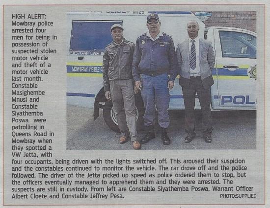 High alert (People's Post, 3 October 2013)