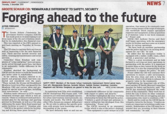 Forging ahead to the future (People's Post, 5 December 2013)