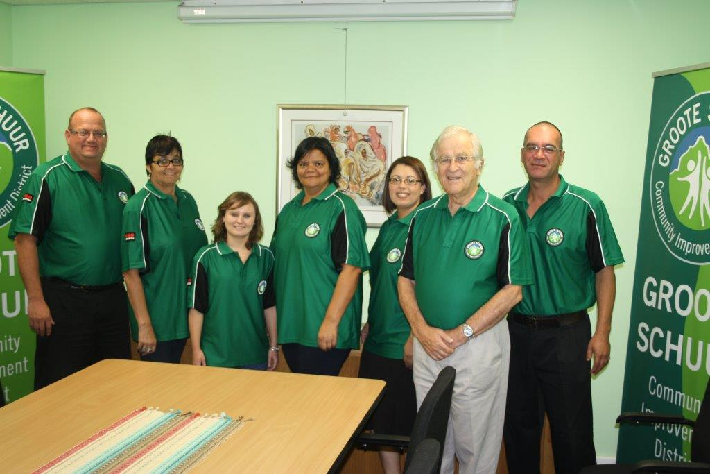 Photo of GSCID Staff wearing their golf shirts