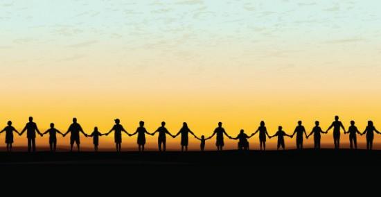 Holding hands logo