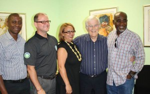 Caption: (From Left to Right) Shai Makgoba (GSCID Board member), Gregg Huntingford, (GSCID Chairman and Board member), Nina Farrell (GSCID General Manager Elect), Anthony Davies (GSCID CEO) and Manu Wope GSCID Board member).