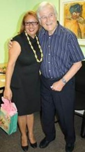 Caption: Nina Farrell (GSCID General Manager Elect) with Anthony Davies (outgoing GSCID CEO)